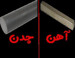 مقایسه آهن و چدن